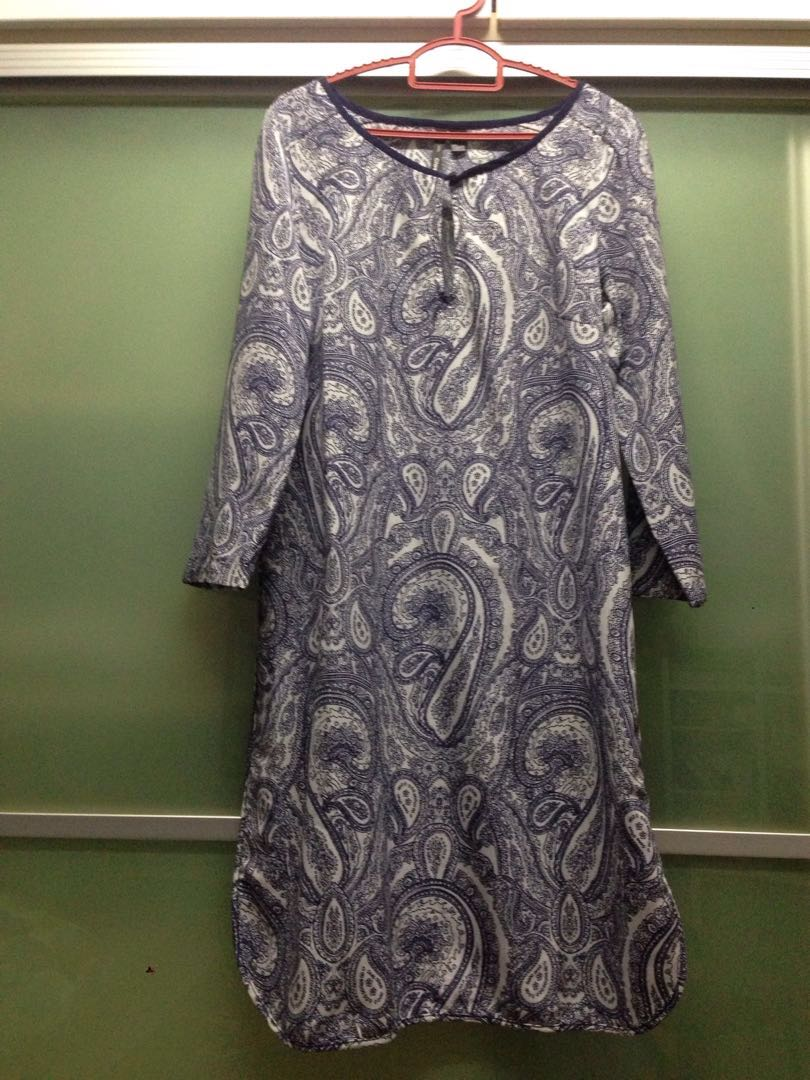 Mango suit classic batik tunic dress