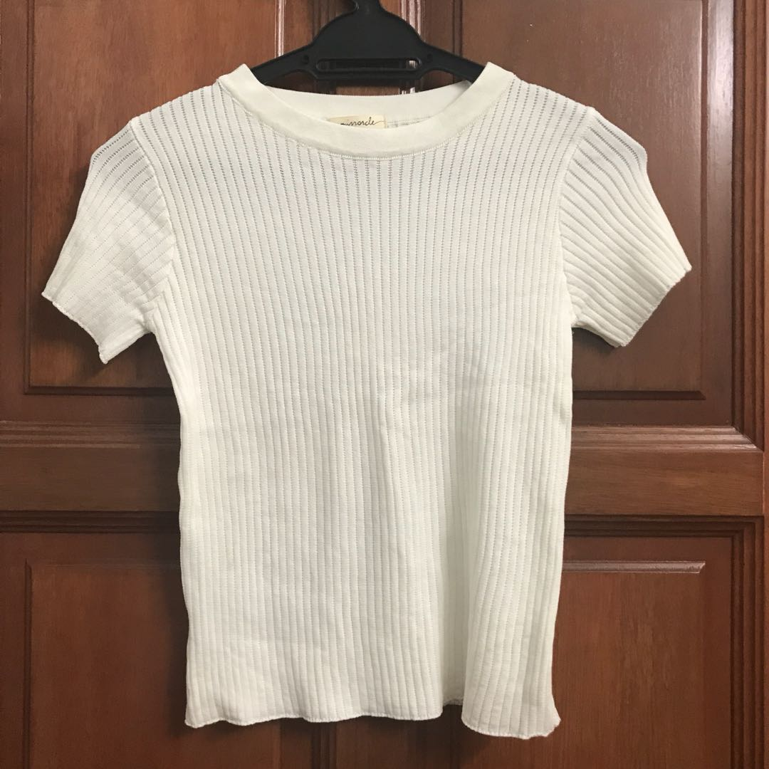 Mirrorcle Knitted Off White Top