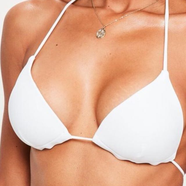 Missguided White Bikini Top