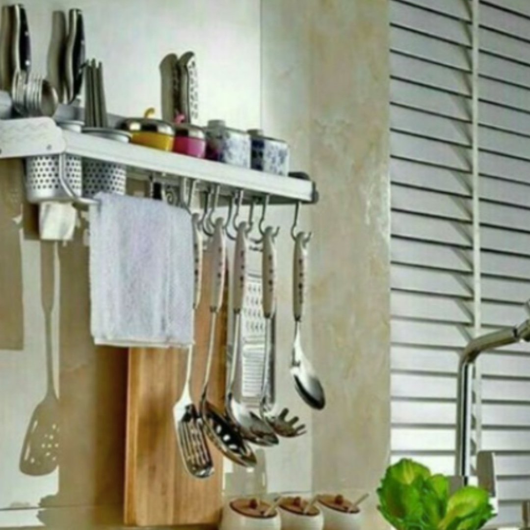 Multifunctional Aluminium Kitchen Rack With 2 Cups Hot80 Appliances On Carou