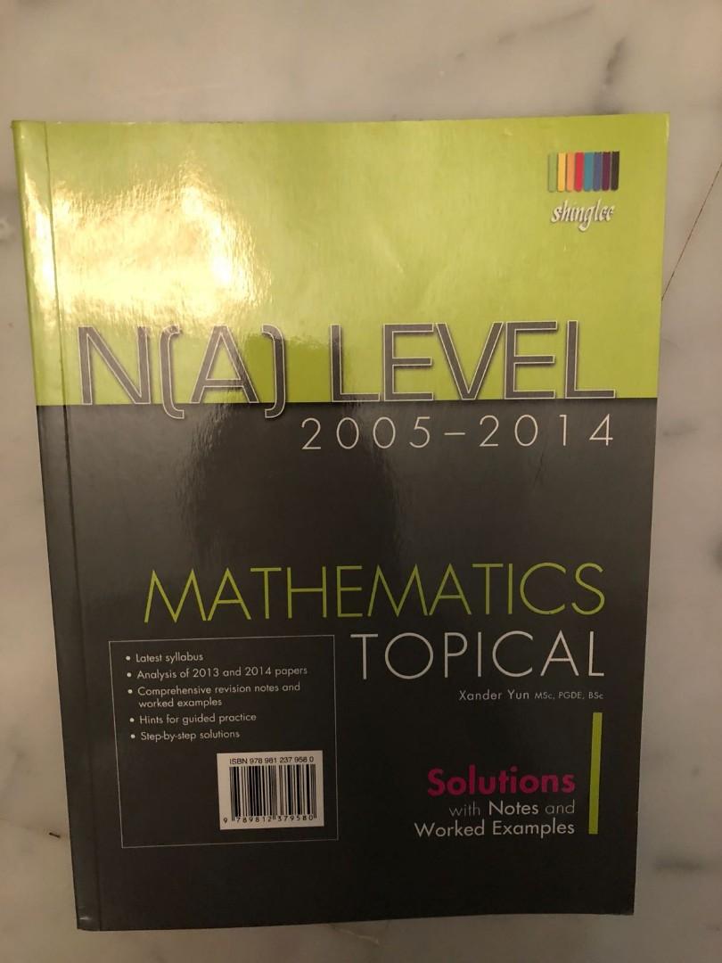 N(a) level mathematics tropical workbook, Textbooks on Carousell