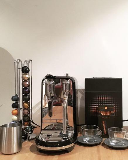 nespresso creatista coffee machine black
