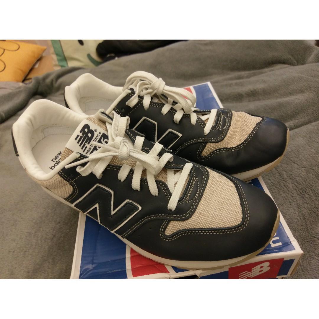 New Balance 996 全新皮革深藍拼草革男生運動鞋