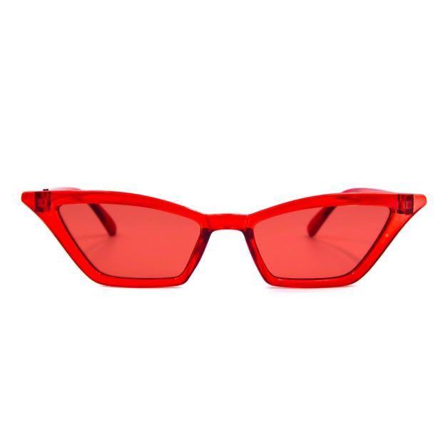 New red retro cats eye sunnies