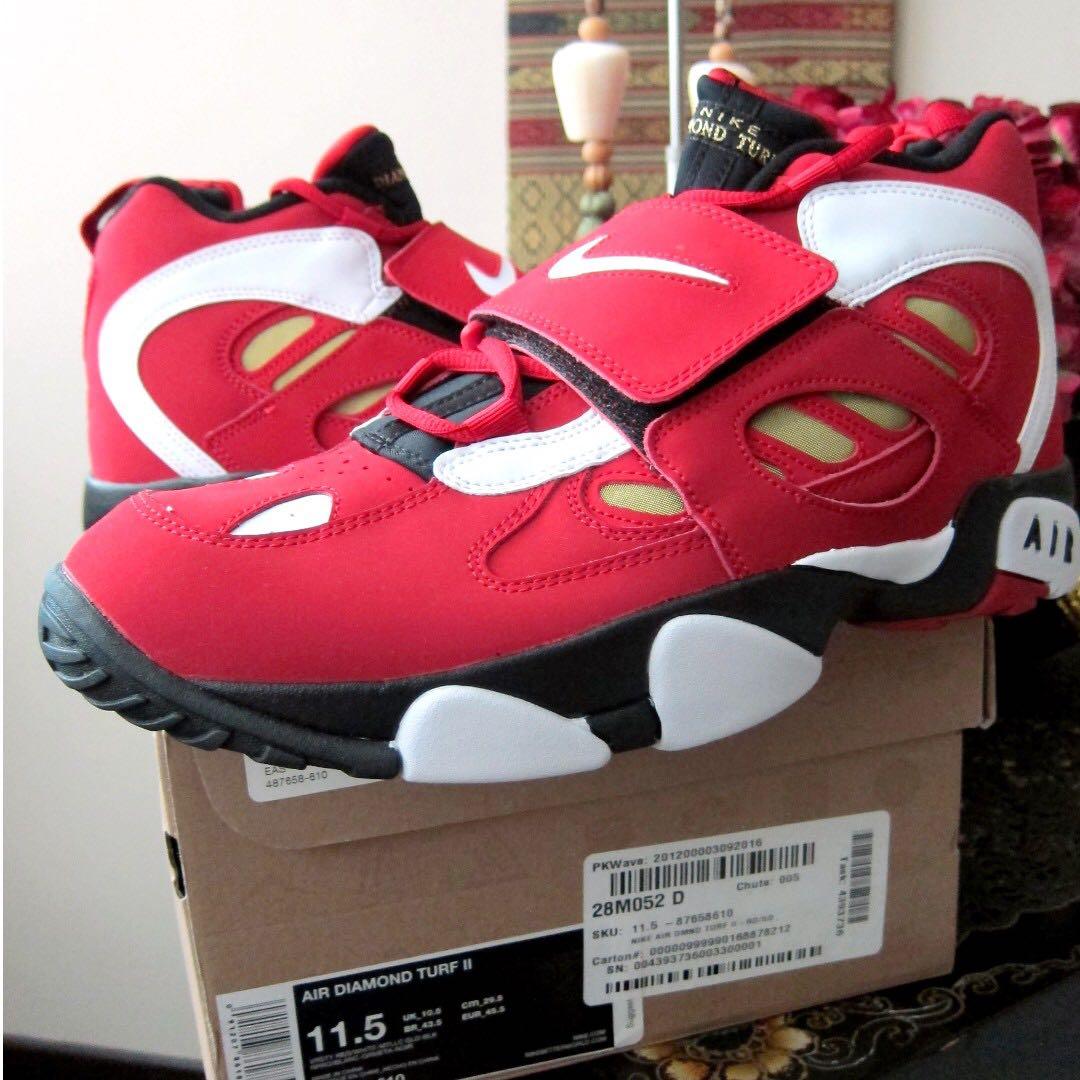 d4ef1a3411 Nike RARE Air Diamond Turf II Sneakers Shoes Kicks NFL Dion Sanders ...