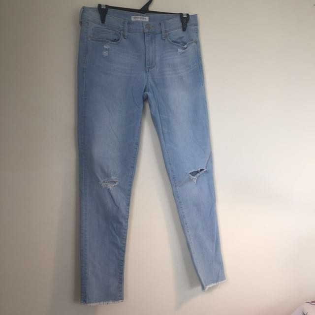 Pale blue skinny ankle jeans- Size M