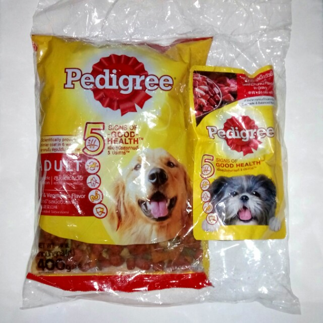 Pedigree Adult Beef & Vegetable Flavor with FREE beef chunks flavor, Pets Supplies, Pet Food on Carousell