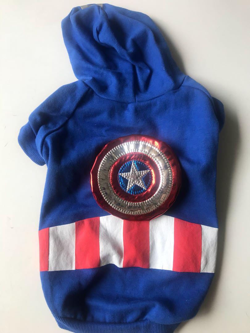 Pet clothing (Captain America) - medium size