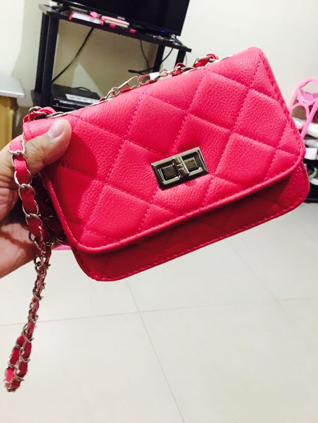 c47e53cb64d993 Pink Sling Bag (No Label), Women's Fashion, Bags & Wallets on Carousell