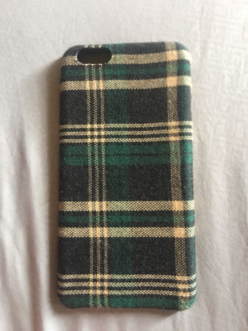 Plaid iphone 6s plus case