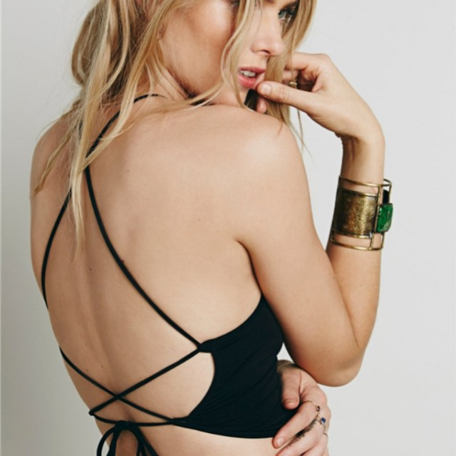 PREORDER Halter Tied Backless Top