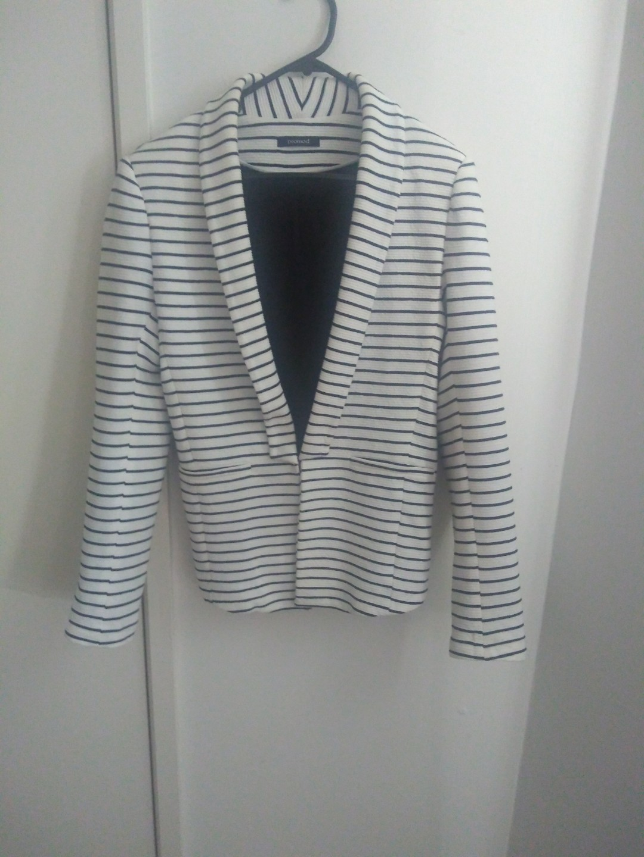 Promod striped blazer/jacket/coat
