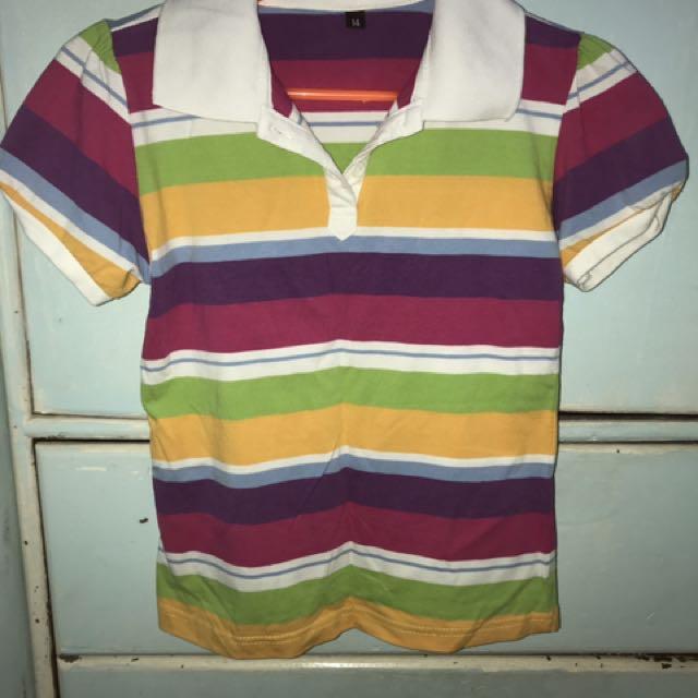Rainbow Stripes Poloshirt