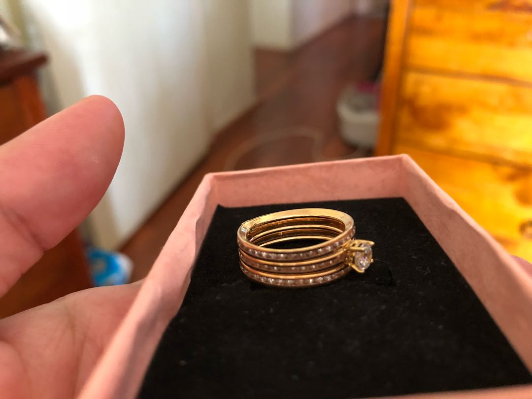 Real 18ct solid gold with cz