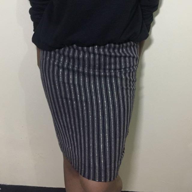 Rok Stripes Bahan Tebal