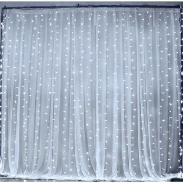 [Sellabrations] 3m x 3m Curtain Fairy Lights Stage Backdrop Hotel Proposal