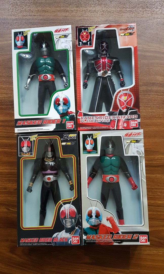Set of 4 - Masked Rider Light Up