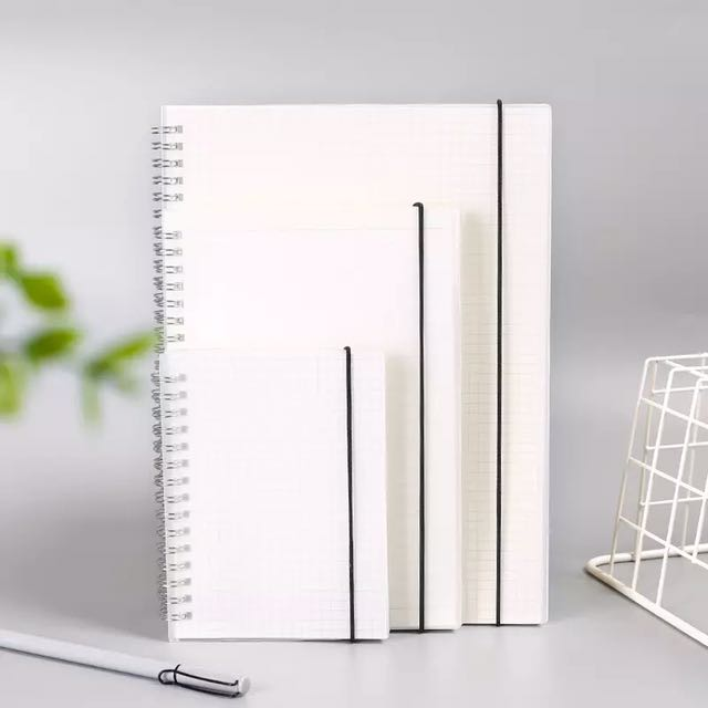 Simple plain A4 and B5 note book lined