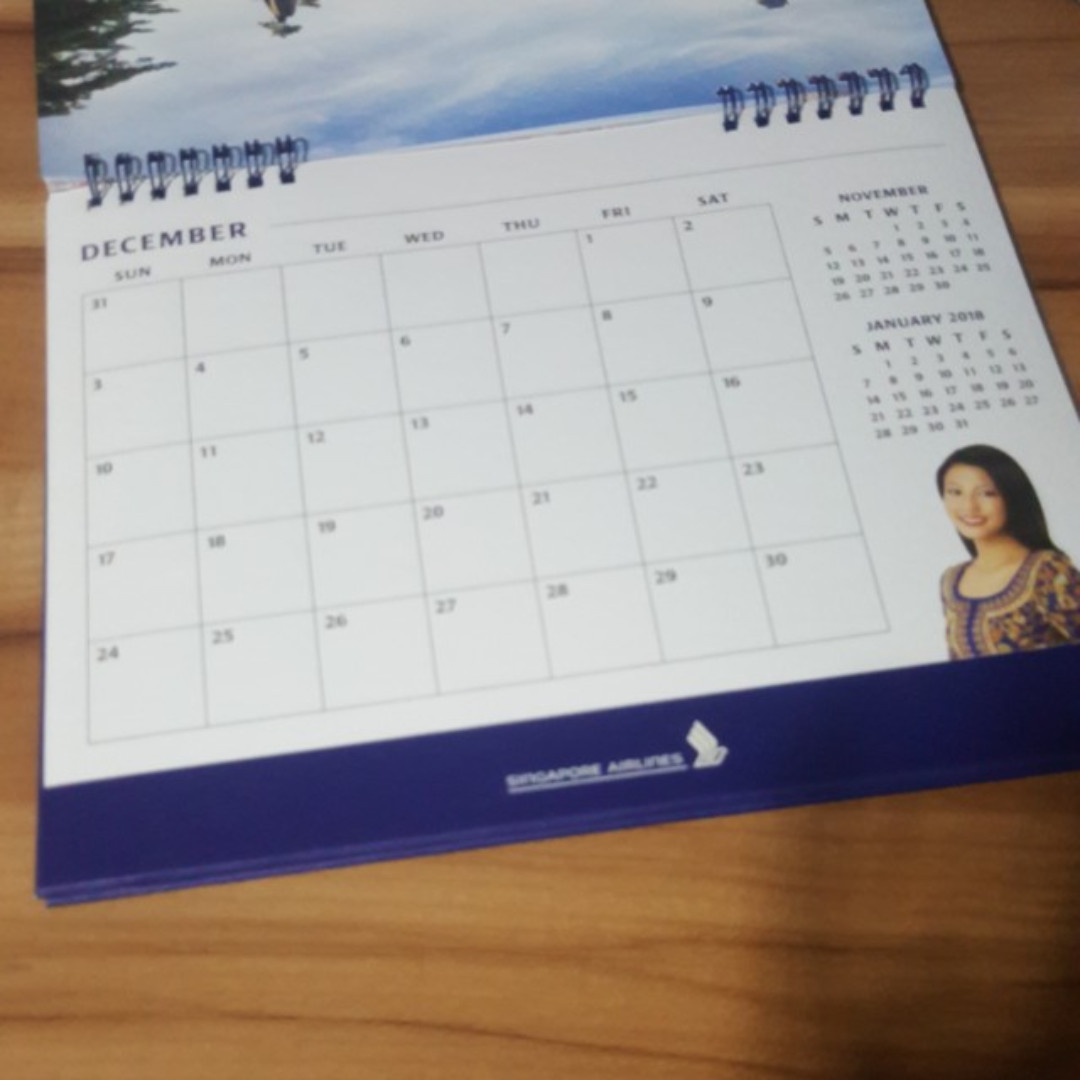 Calendar Sia : Singapore airlines th anniversary calendar sia sq new books
