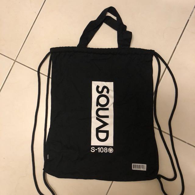 SQUAD 提袋 束口袋(可議價)(可放A4)