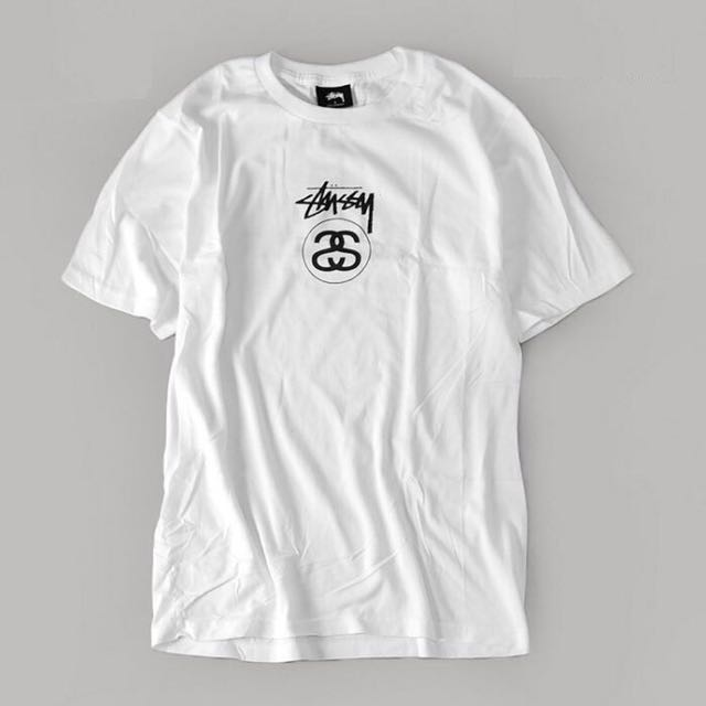 Stussy 白 Tee T-shirt L號