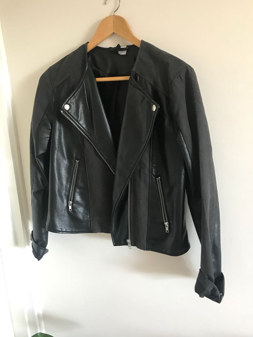 Suede and leather PU jacket