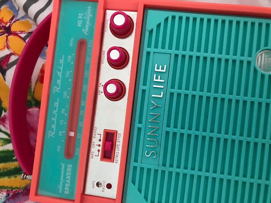 Sunny Life MP3 FM AM portable
