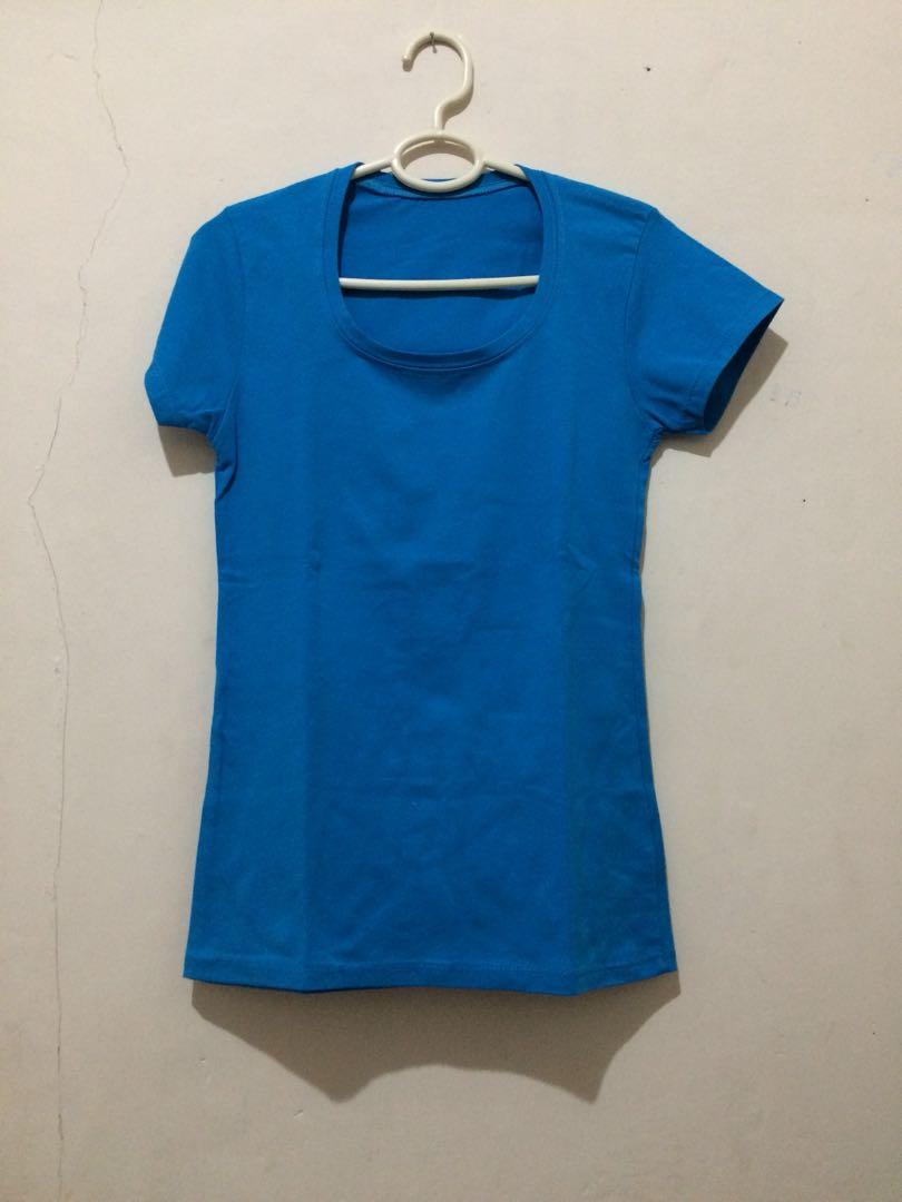 t shirt biru