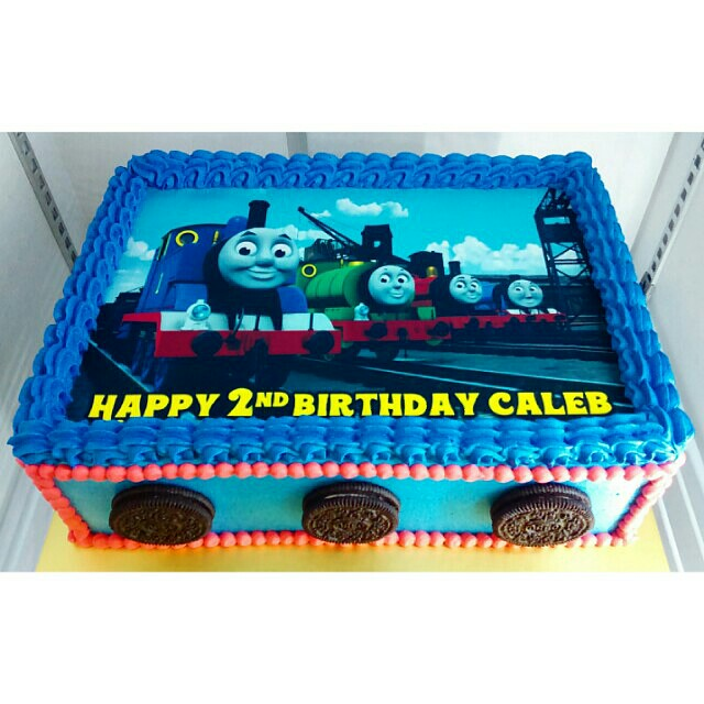 Thomas The Train & Friends Customise Photo Cake, Food & Drinks