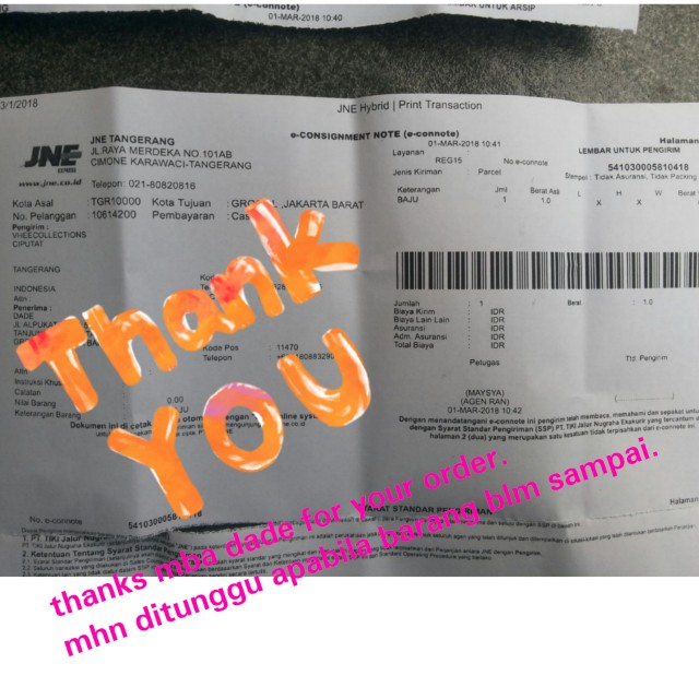 Tks mba dade for your order