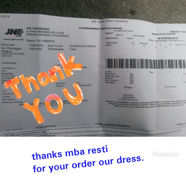 Tks mba resti for your order