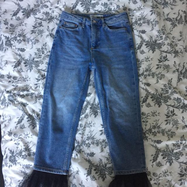 Topshop Frill Jean W26 L30