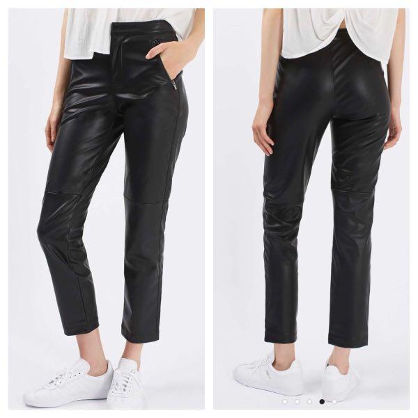 Topshop Vegan Leather Pants