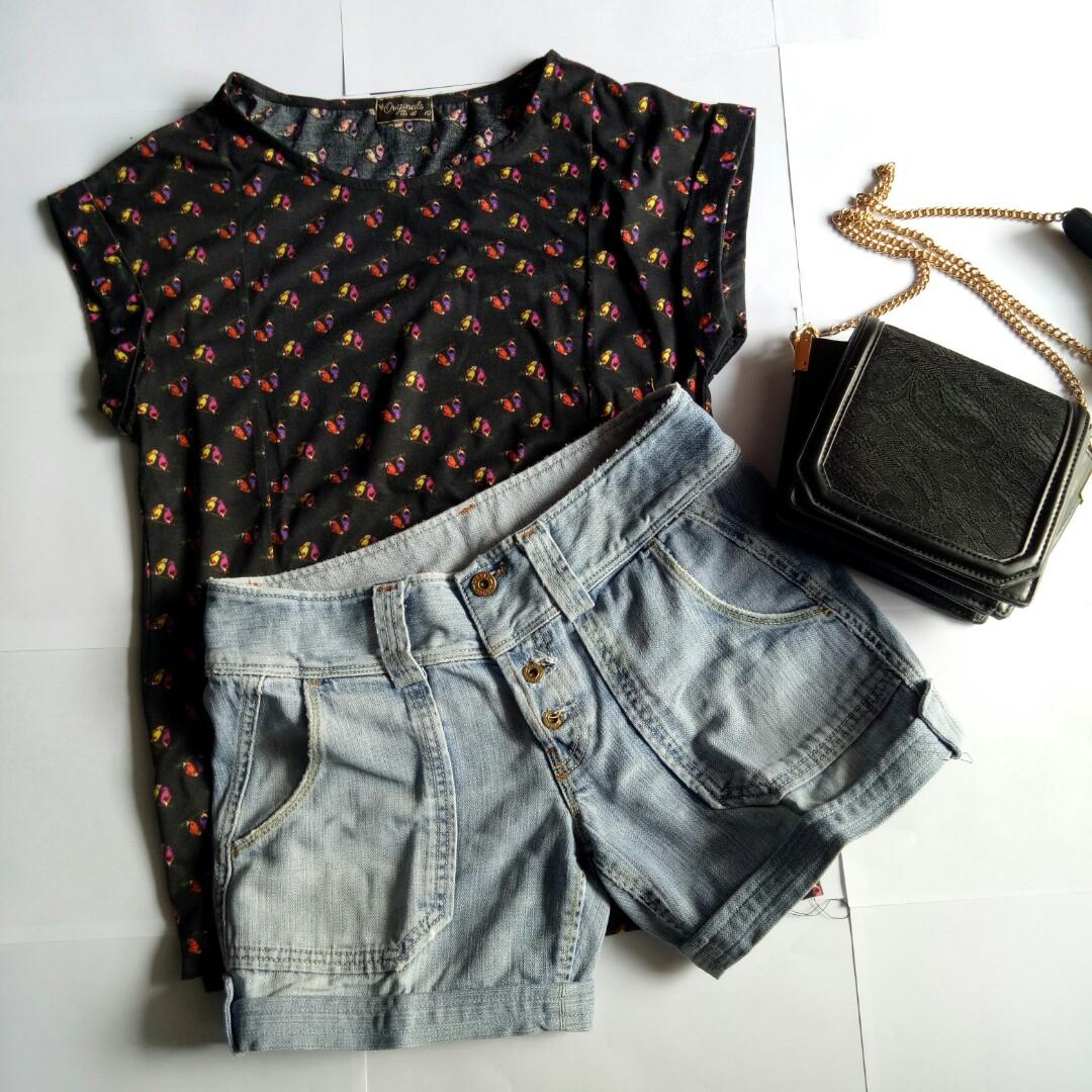 Tshirt/ Baju pantai/ Kaos/ Short pants