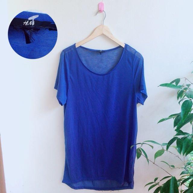 Tshirt blue h&m