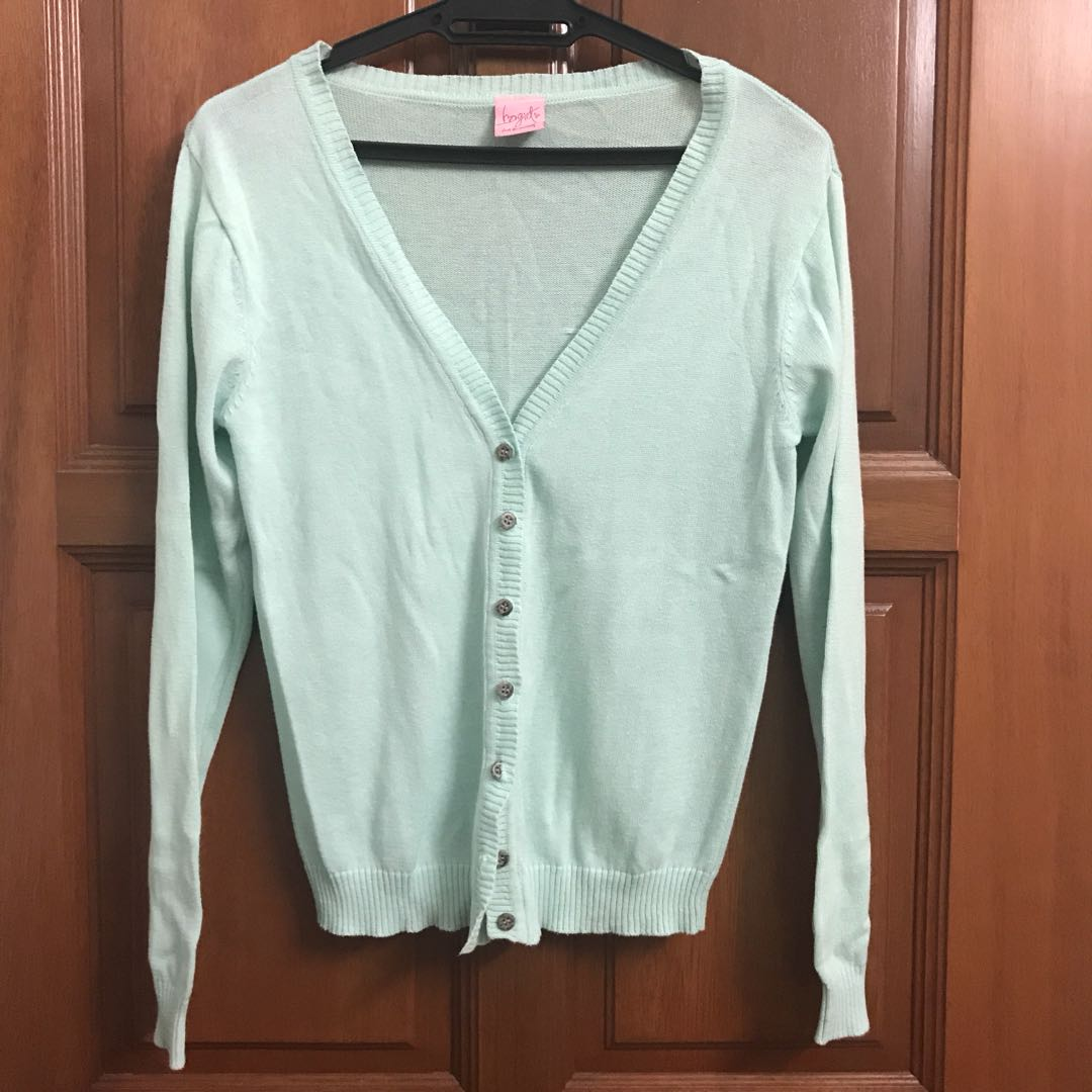 Turquoise knitted cardigan