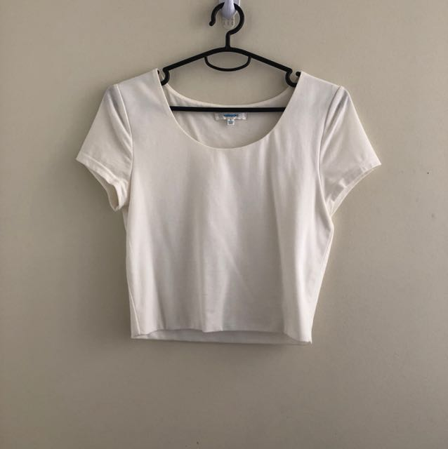 Valleygirl white cropped tee shirt