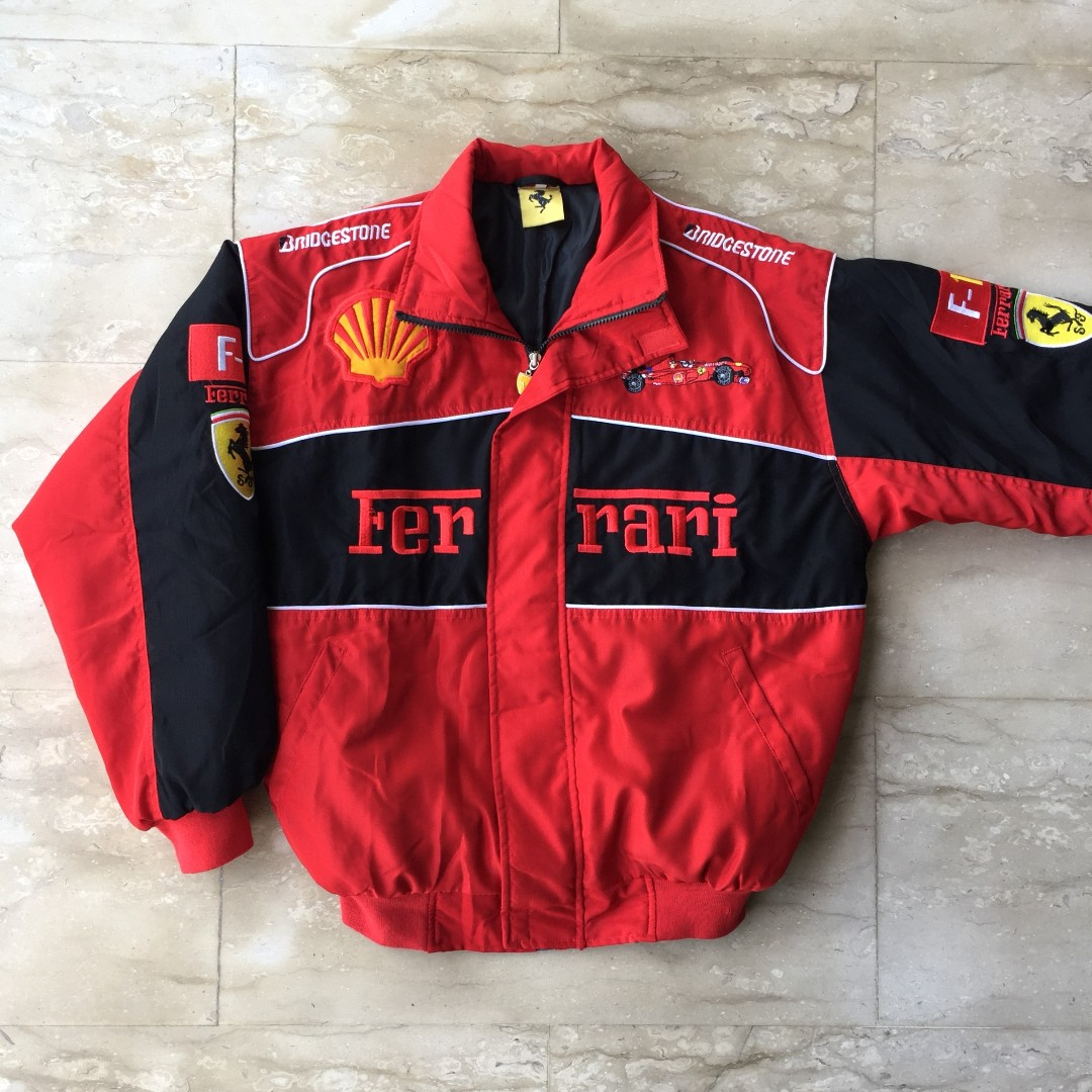 ebay track authentic scuderia red jacket puma itm black ferrari full zip s