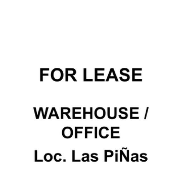 Warehouse / Office FOR RENT
