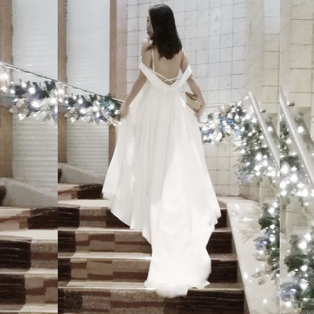 White gown for rent, Preloved Women\'s Fashion, Clothes on Carousell