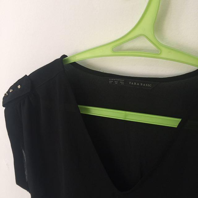 Zara basic chifon top
