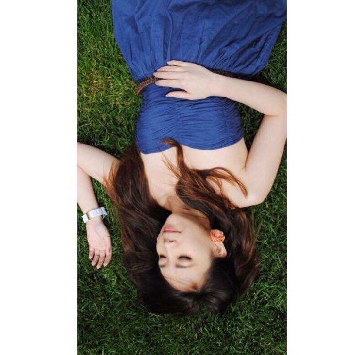 ZARA TRF blue dress