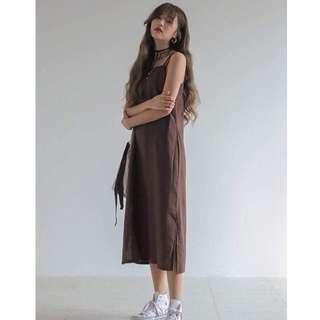 🚚 正韓/stylenanda棉麻細肩帶洋裝