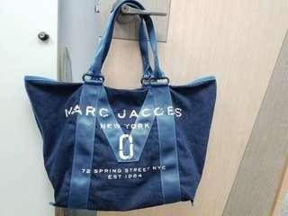 有單 正品Marc Jacobs 牛仔布 帆布 Denim 大袋側背袋 手挽袋 旅行袋 環保袋 bag TWIST