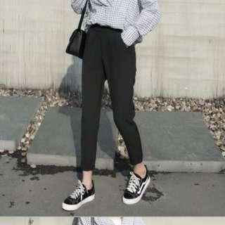 UAN BLACK BASIC PANTS