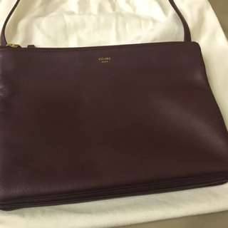 celine trio burgundy large