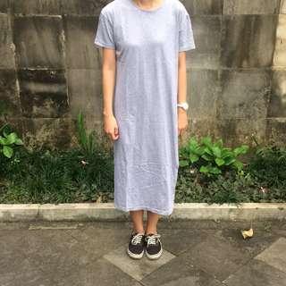 Grey slit dress
