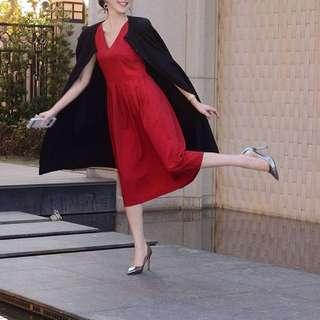 🚚 Starmimi ladies 紅色修身無袖洋裝