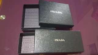 Prada 銀包盒 wallet box 1 個 & 眼鏡盒 glasses box 2個
