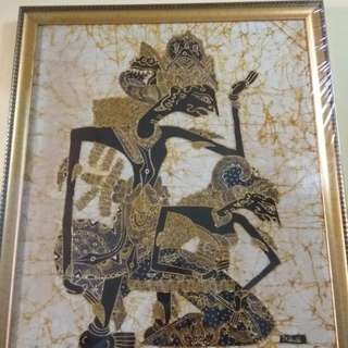 Lukisan Wayang Rama Sinta